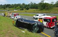 Woman has lucky escape from serious injury after vehicle rolls