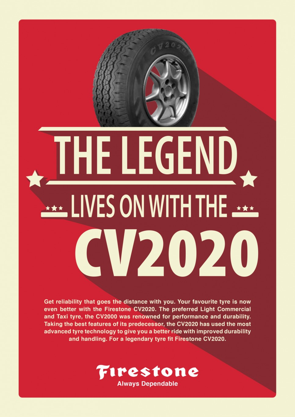 Bridgestone unveils successor to widely-used CV2000 light commercial tyre