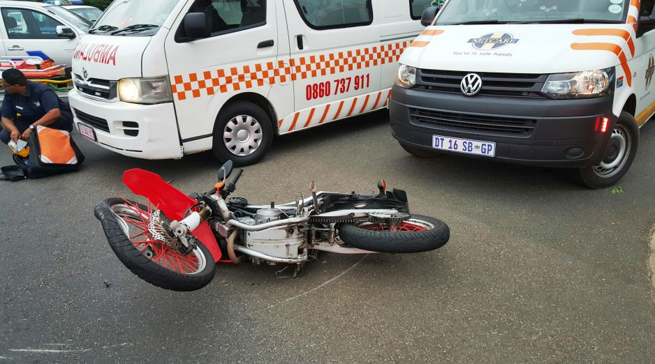 Biker seriously injured in crash in Durban Central