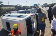 13 Injured as taxi rolls on the M4 North bound just after Quality Street
