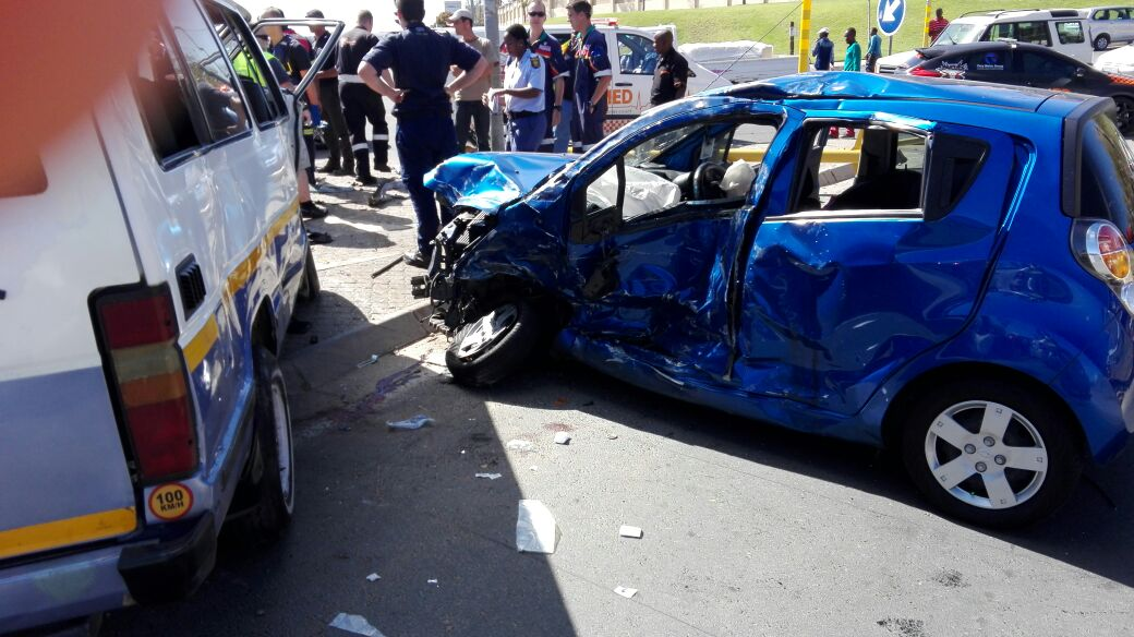 Collision at  corners of True North and Kliprivier Drive, in the south of JHB