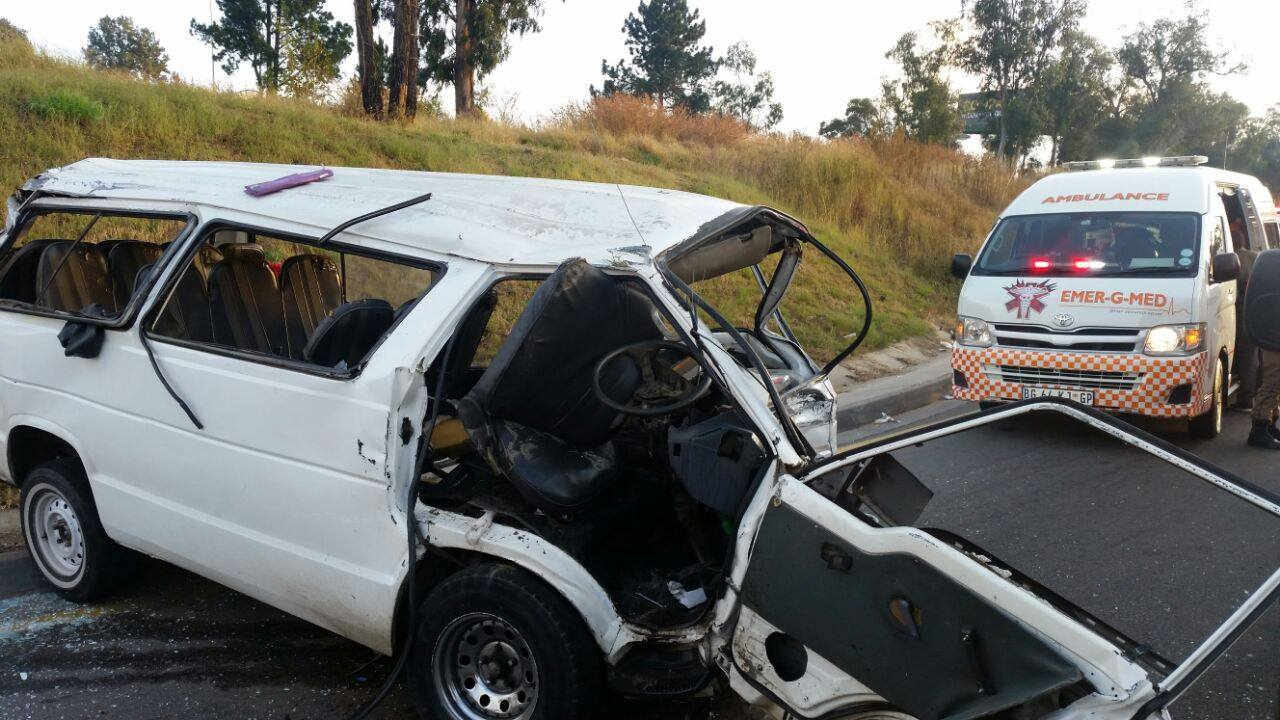 Three injured in collision at intersection on Atterbury road and corner Eros road , Pretoria