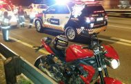 Biker injured in crash on the N1 South after Rivonia, in Sunninghill