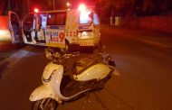 Motorcyclist injured after losing control riding across a speed hump