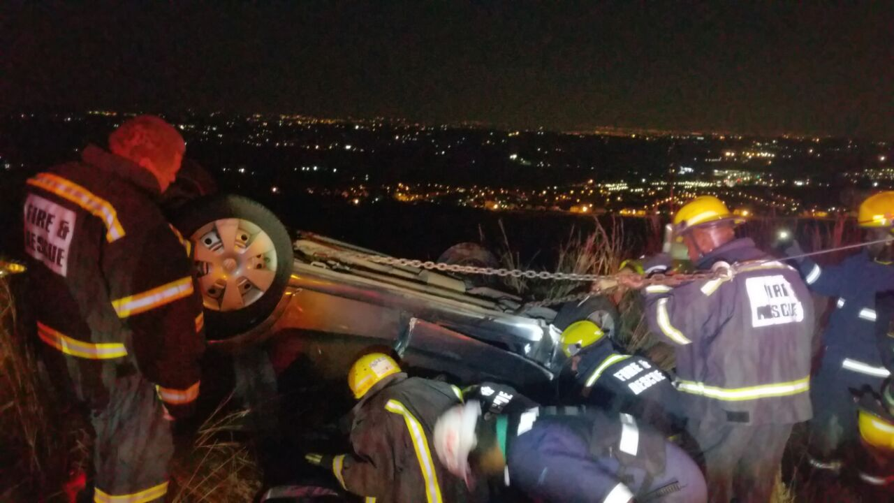 Two injured in vehicle rollover on the R28 near the Silver Star Casino