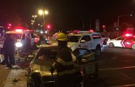 Randburg: Five injured in head on collision