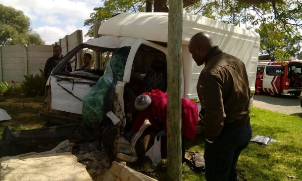Truck crashes through wall injuring two in Roodepoort