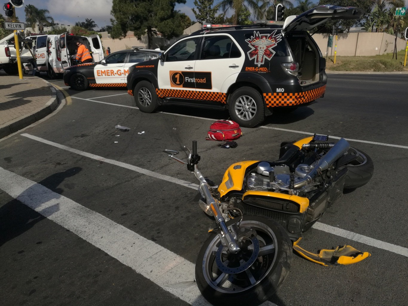 Biker injured in collision in Morningside