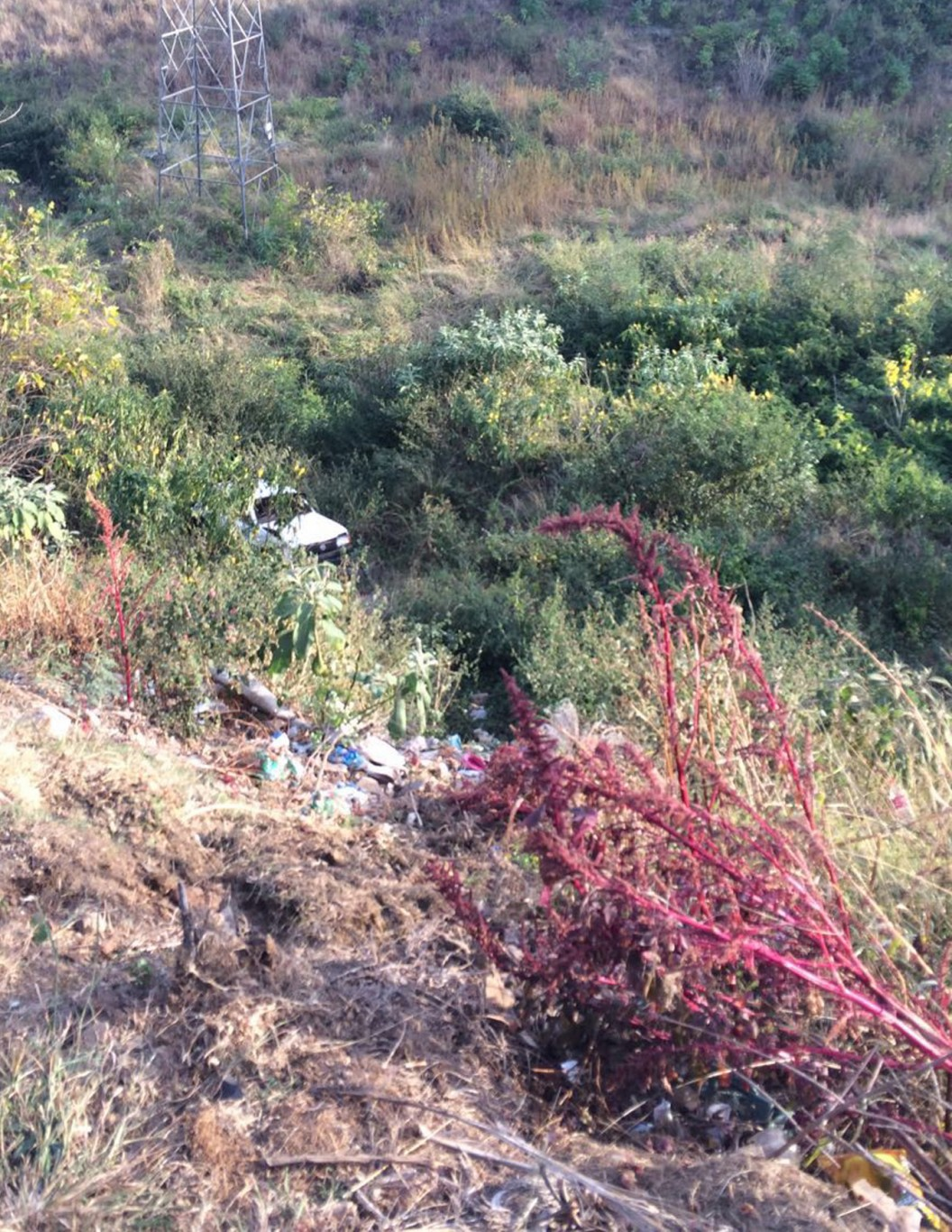 Vehicle found several metres down embankment - two injured, Northdale