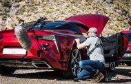 LEXUS LC 500 filmed gliding through the mountains