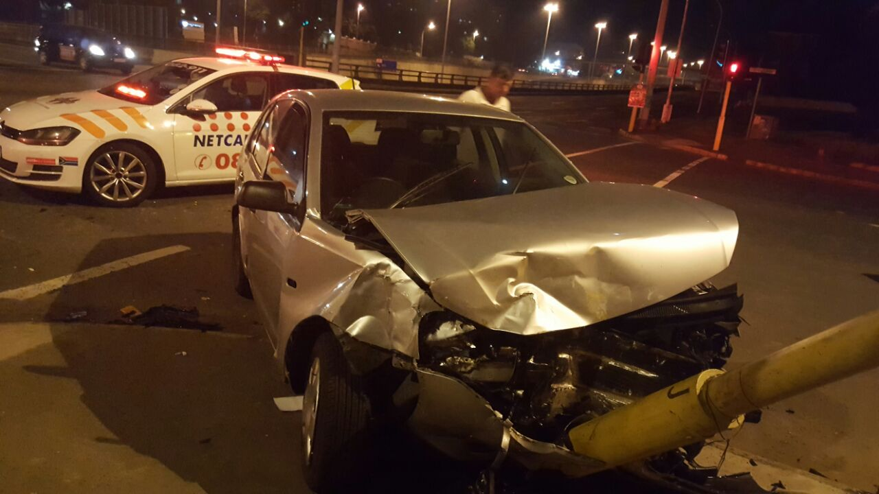 Five injured in crash on Essenwood road near Berea road in Durban.