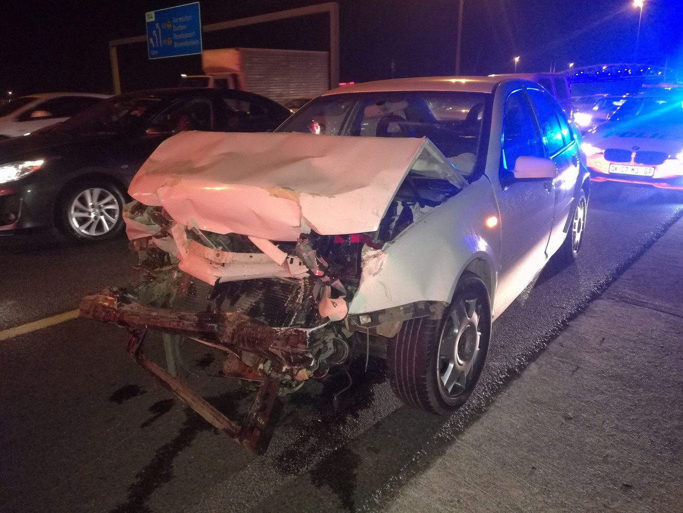 One injured in pile-up on the N1 North before Allandale Road, Midrand.
