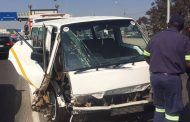 Taxi crash on Grayston Drive over the M1 in Wynberg.