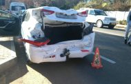 Three vehicle collision in Melrose Estate