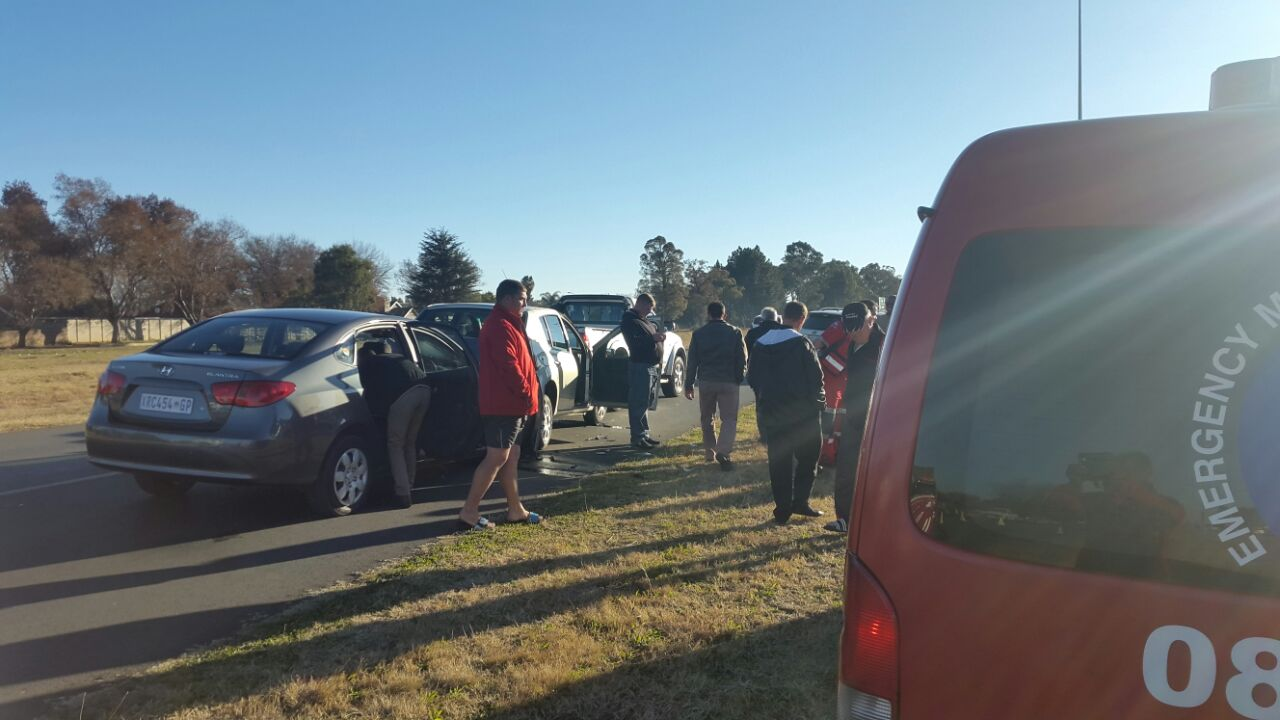 Three injured in four vehicle collision, Vanderbijlpark