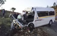 Taxi collision on the New Greytown Road after multiple vehicle overtaking