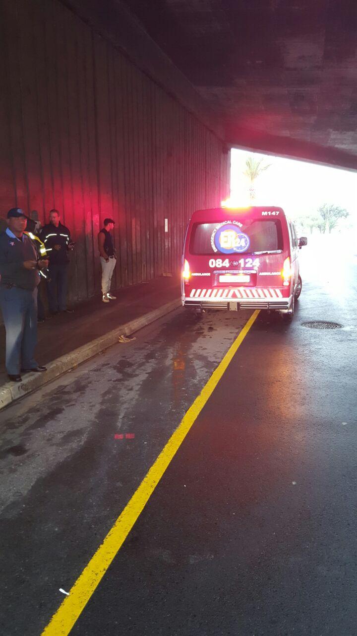 Pedestrian injured in road crash in Rondebosch.