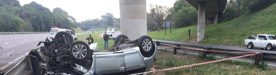 3 Killed in vehicle rollover and crash on the N3 under the M13 bridge