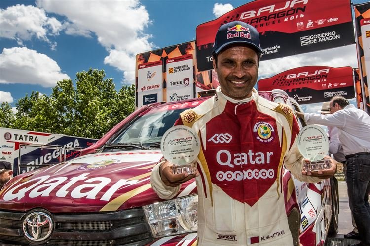Al-Attiyah wins Baja Aragon in Spain in Toyota Hilux