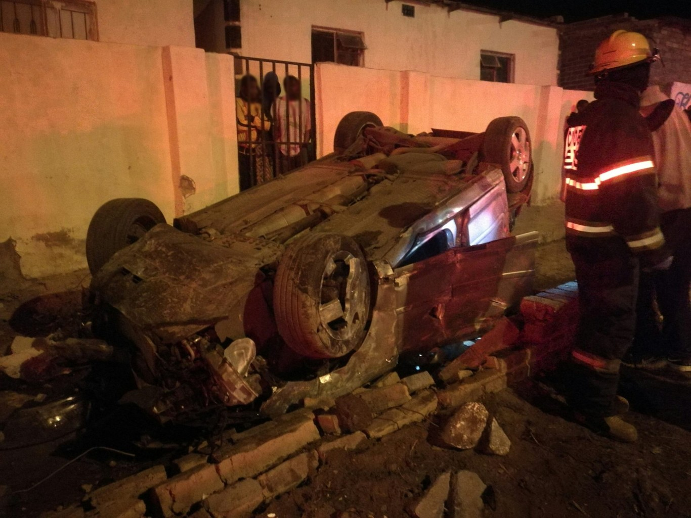 High speed collision into wall in Cosmos City.