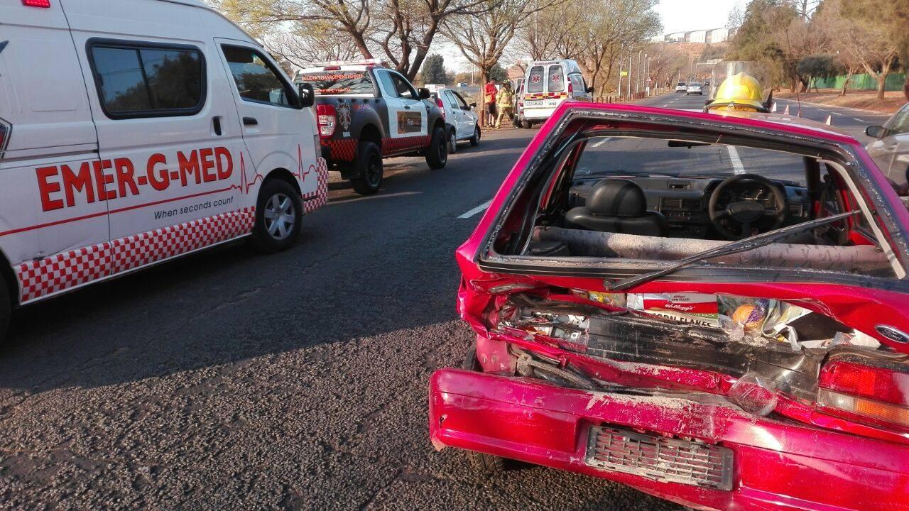 Rear-end crash in Sunnyrock