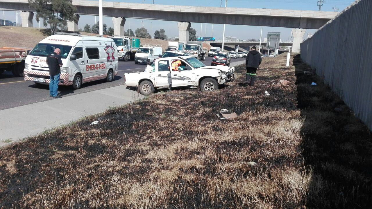 Collision on the R21 by OR Tambo International Airport in Kempton Park.