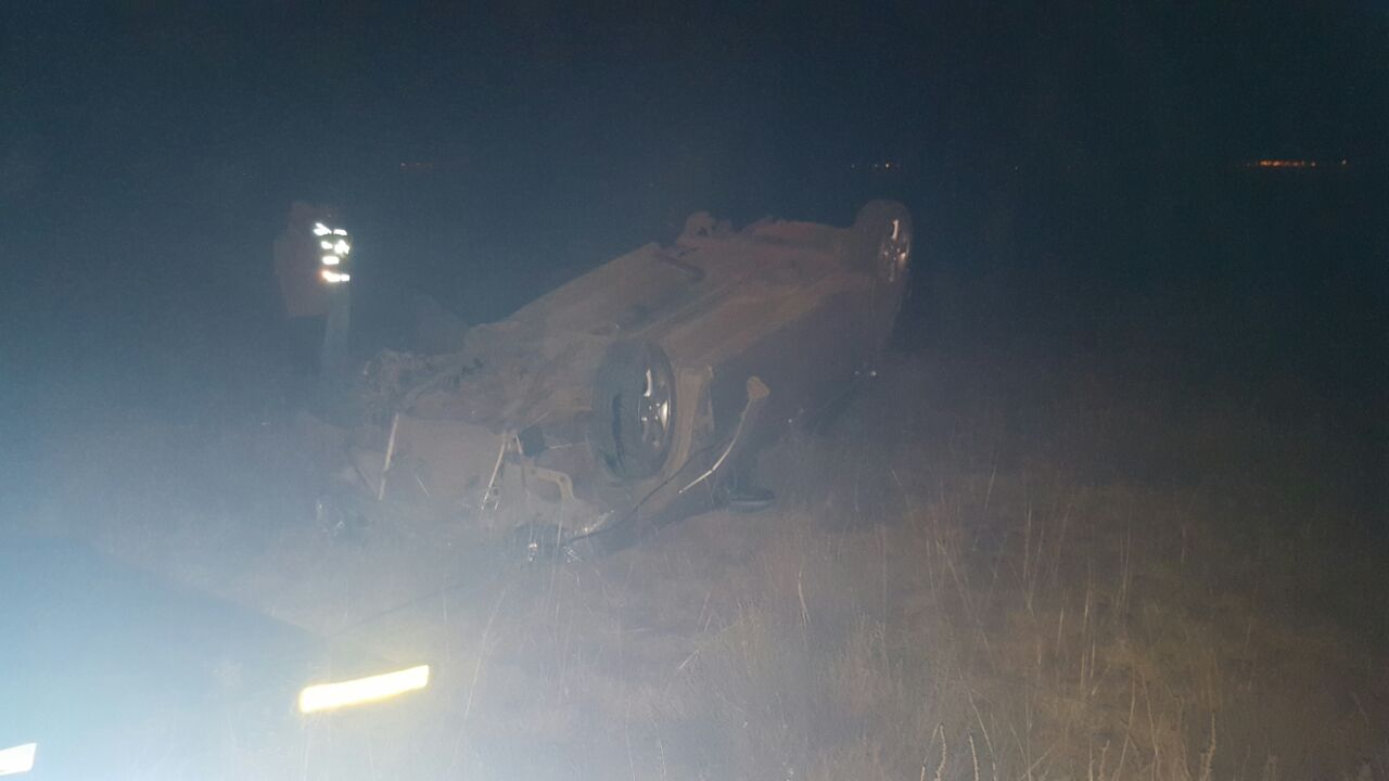 Two injured after vehicle rolls, Witbank.