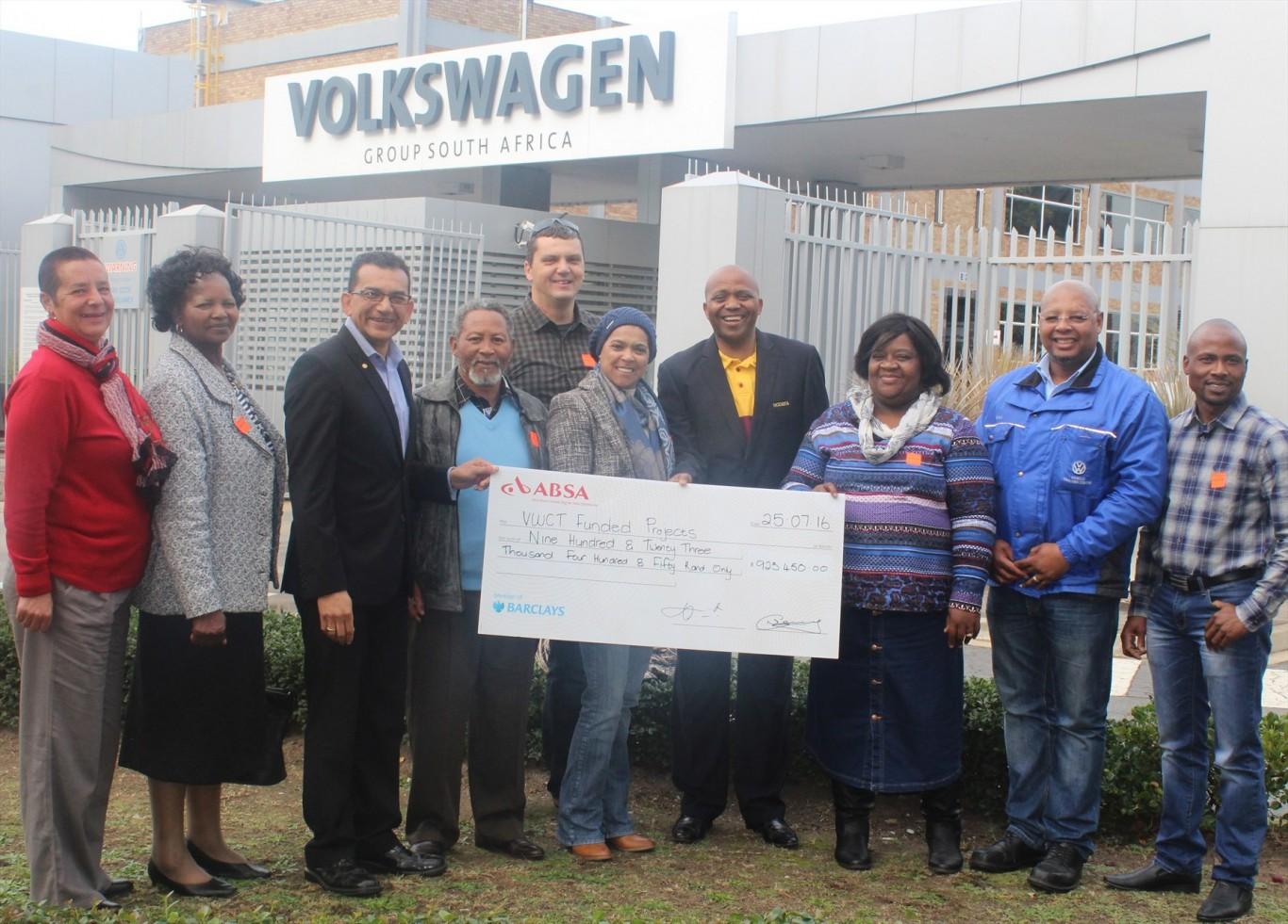 Local charities benefit from Volkswagen's Community Trust cheque handover