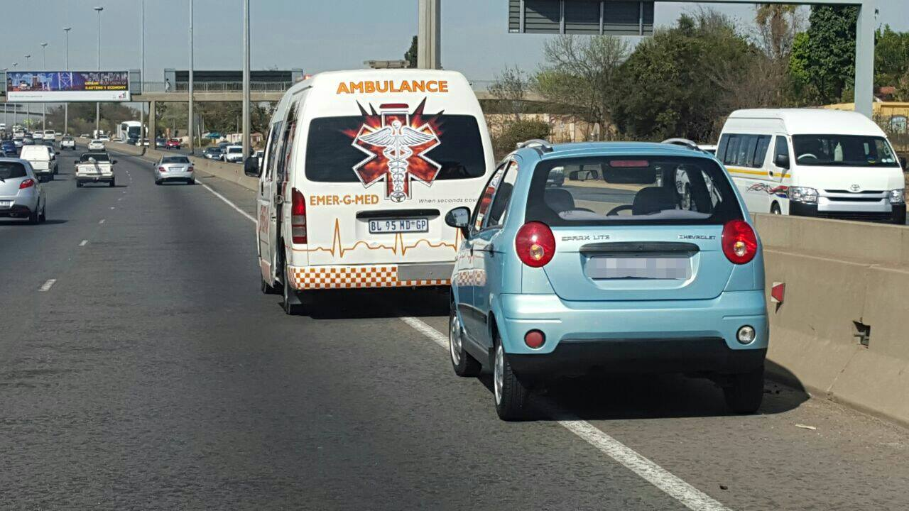 Lady transported to hospital after suffering medical event on M1 freeway
