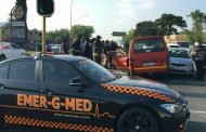 Taxi collision at intersection of Webber and Osborn, Germiston.