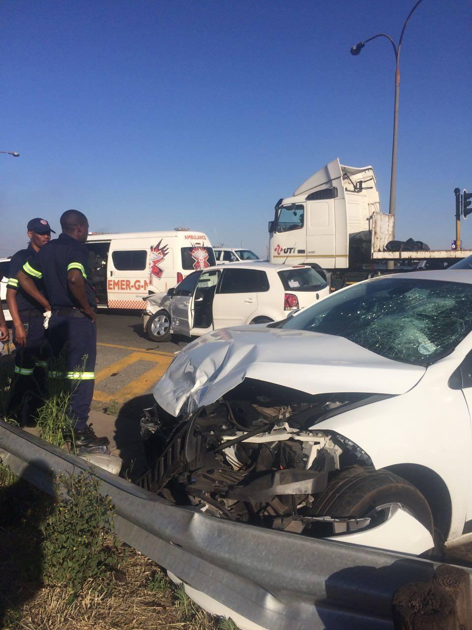 Serious collision on the R59 Swartkoppies Bridge, Alberton