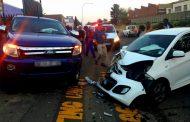 Collision after alleged illegal U-turn in Chrisville, Johannesburg.