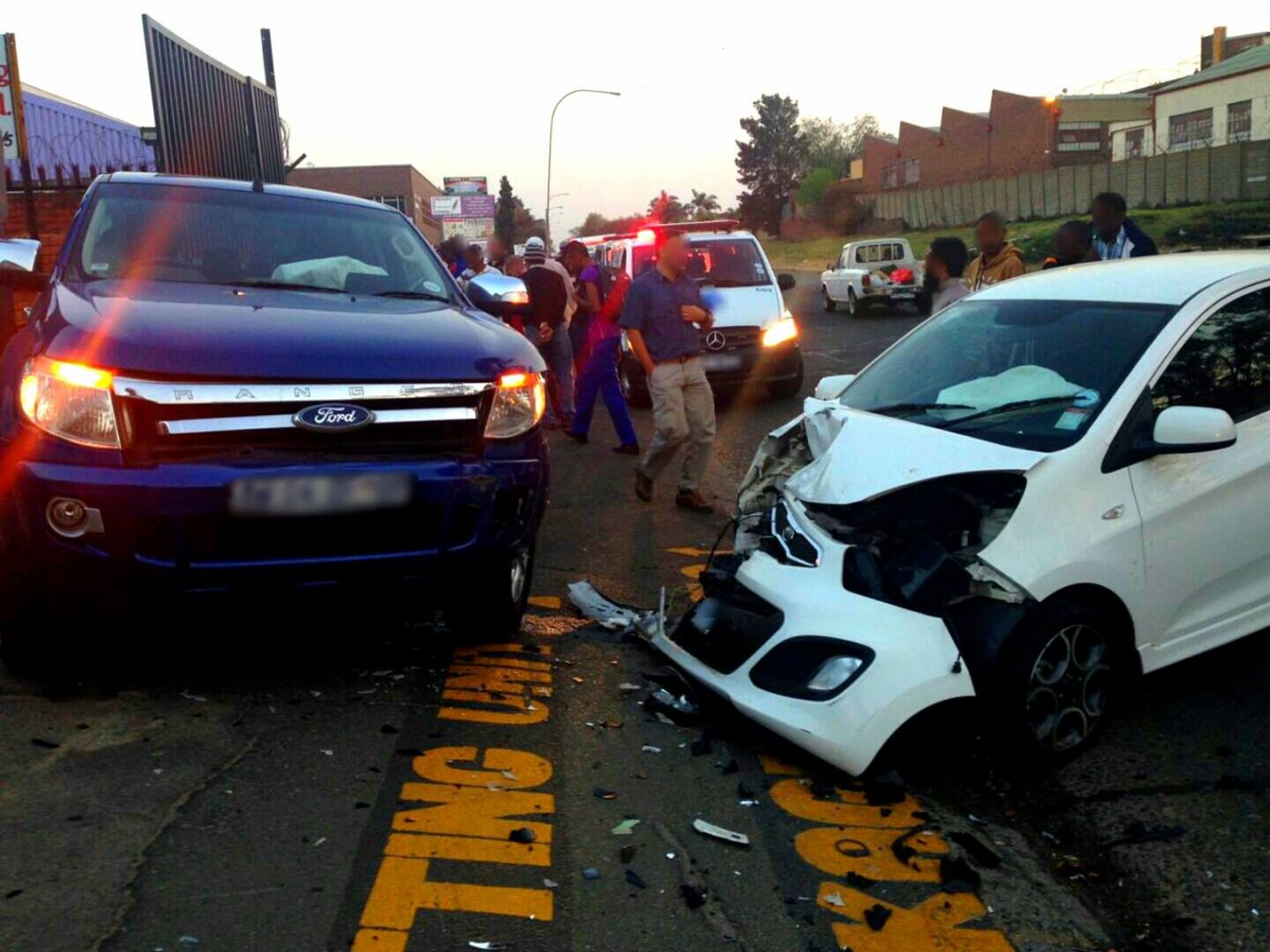Collision after alleged illegal U-turn in Chrisville, Johannesburg.