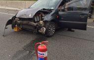 Collision on the N3 North before Van Buuren Road, Bedfordview.