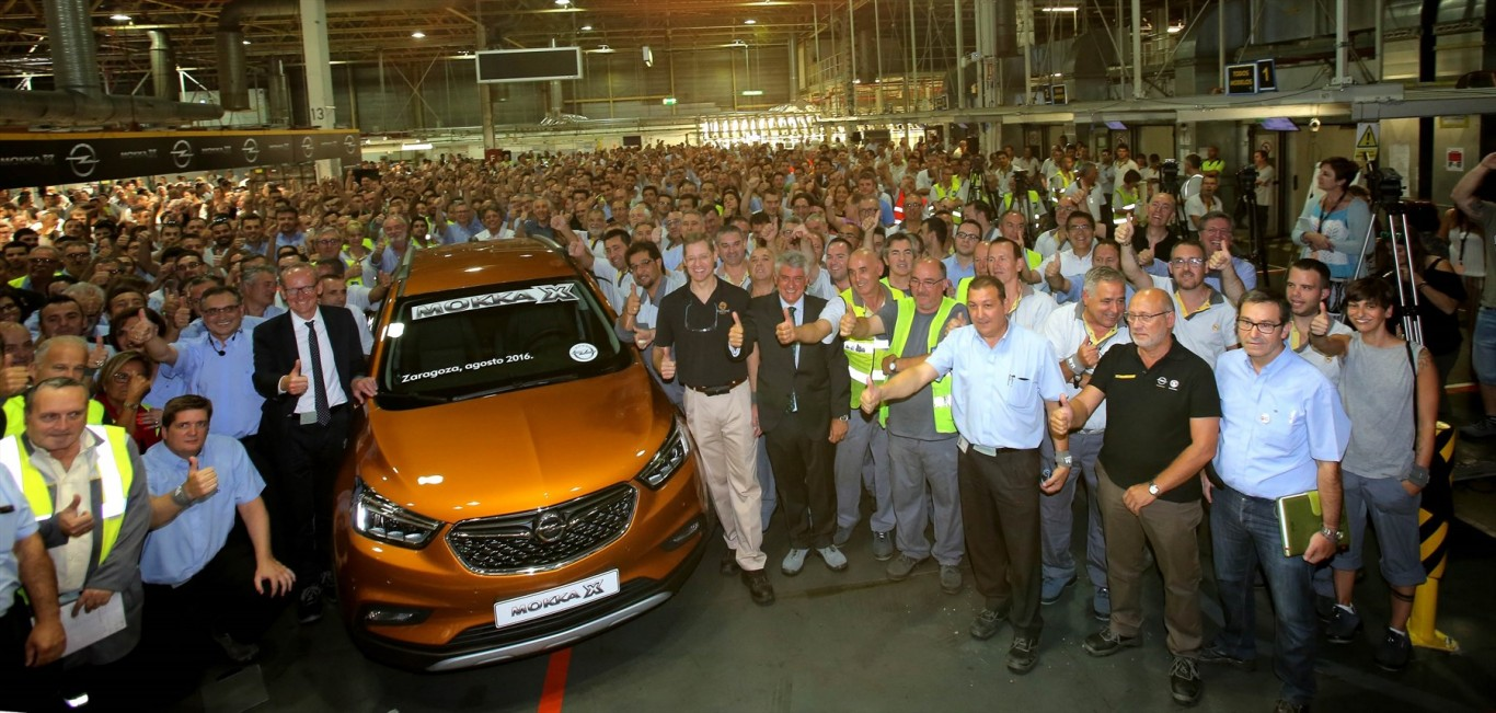 Opel Starts Production of MOKKA X in Zaragoza