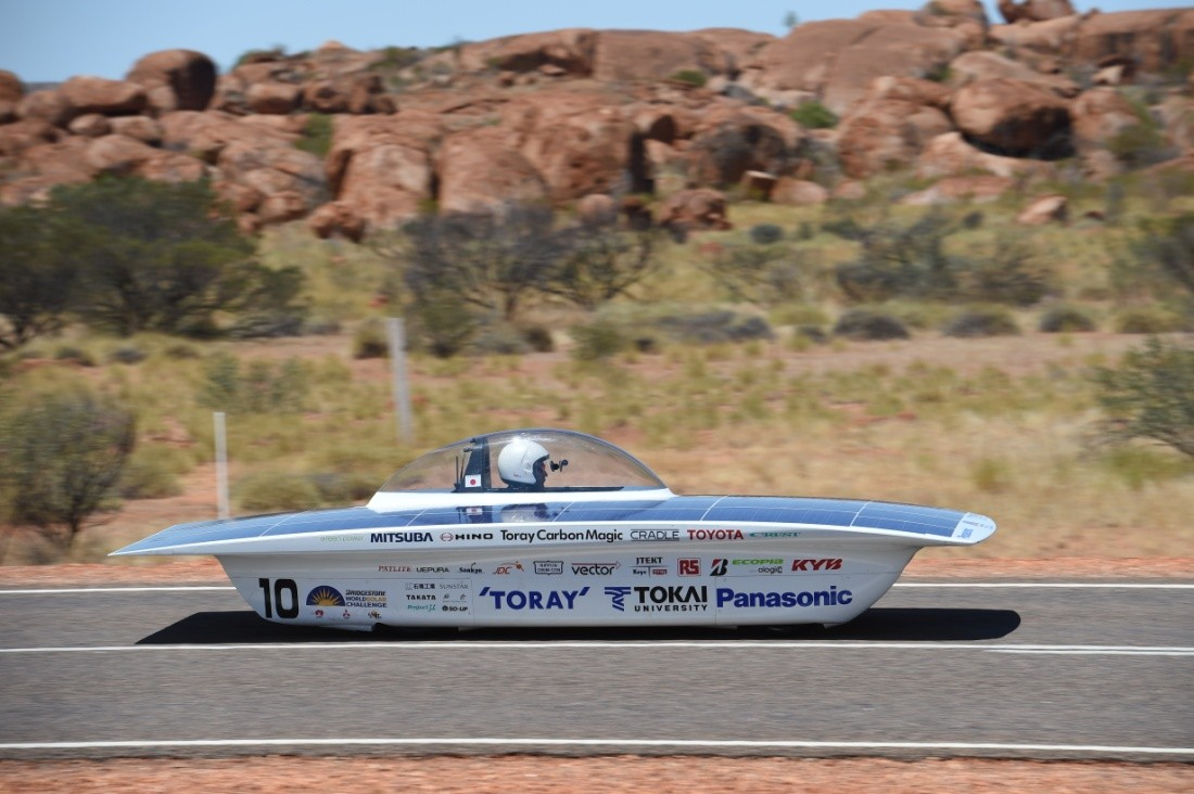 Solar cars to compete on Bridgestone Eco Tyres