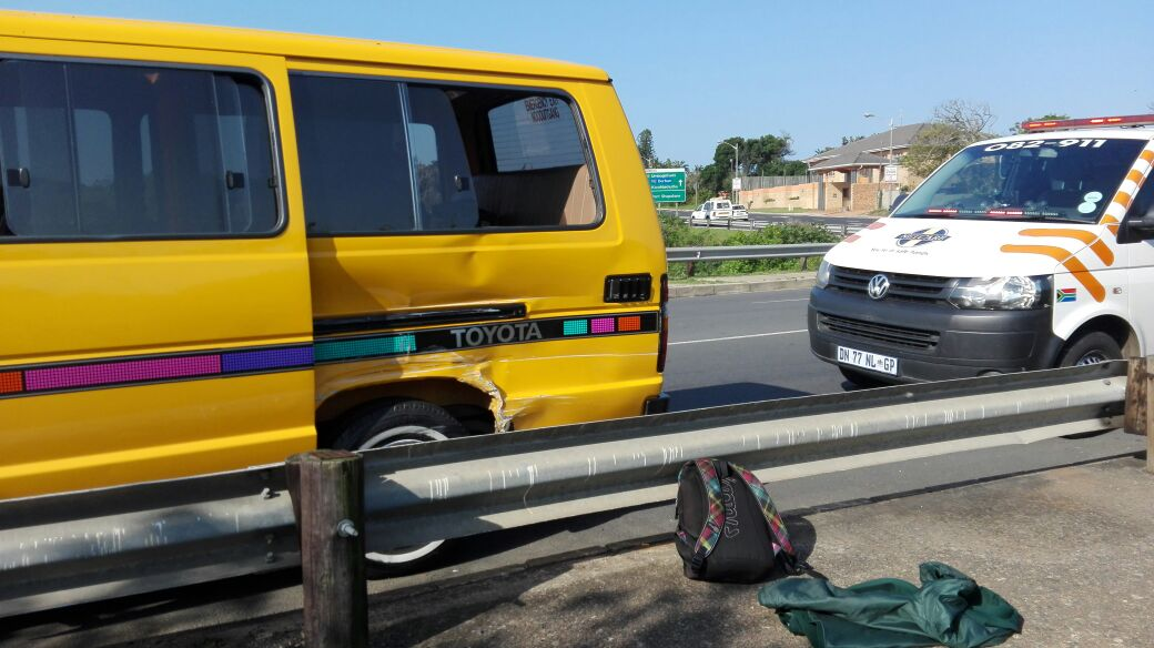 Taxis collide on Umdoni road in Kingsburg, Kwa-Zulu Natal.