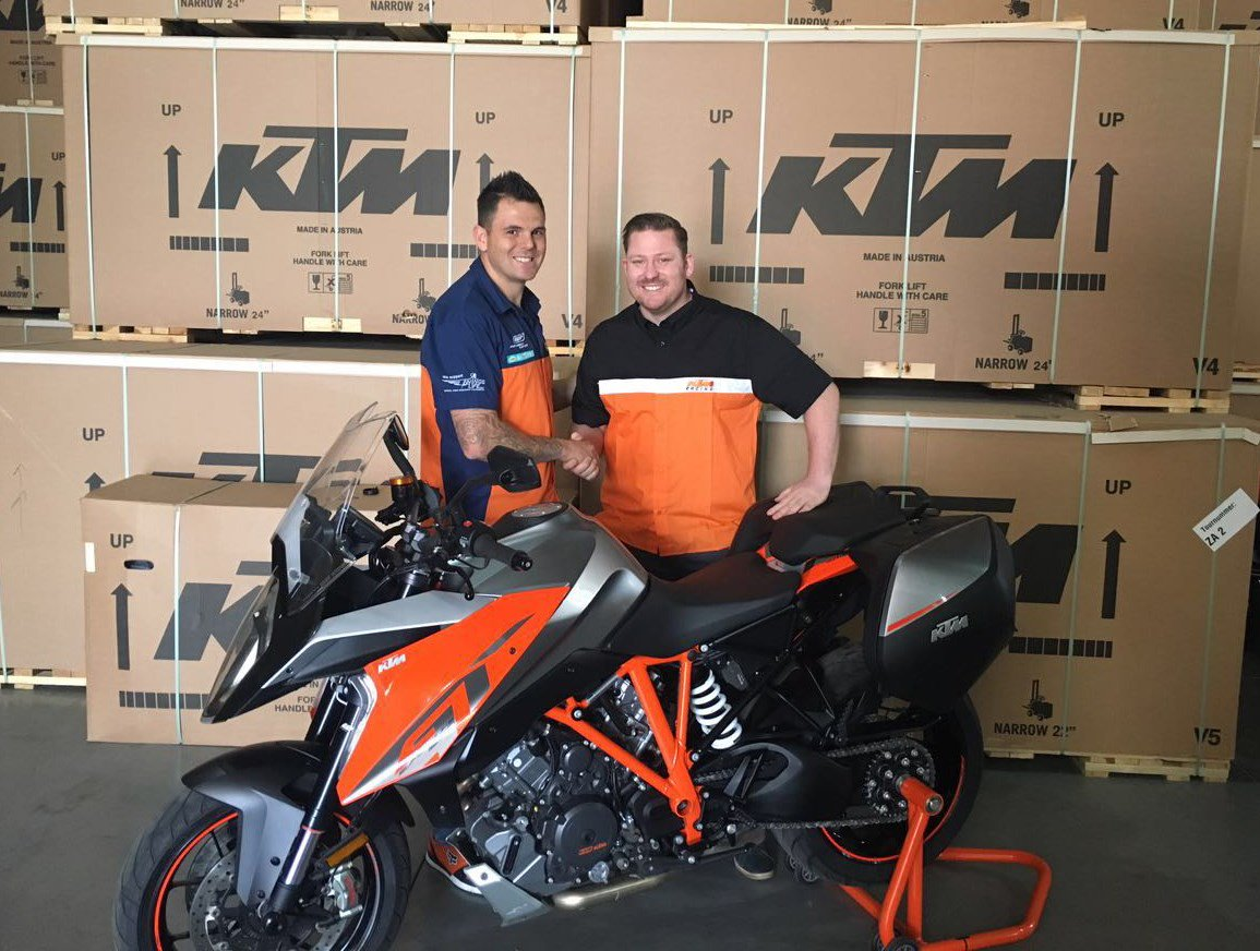 Vin Deysel from The 947 Breakfast Xpress joins forces with KTM.