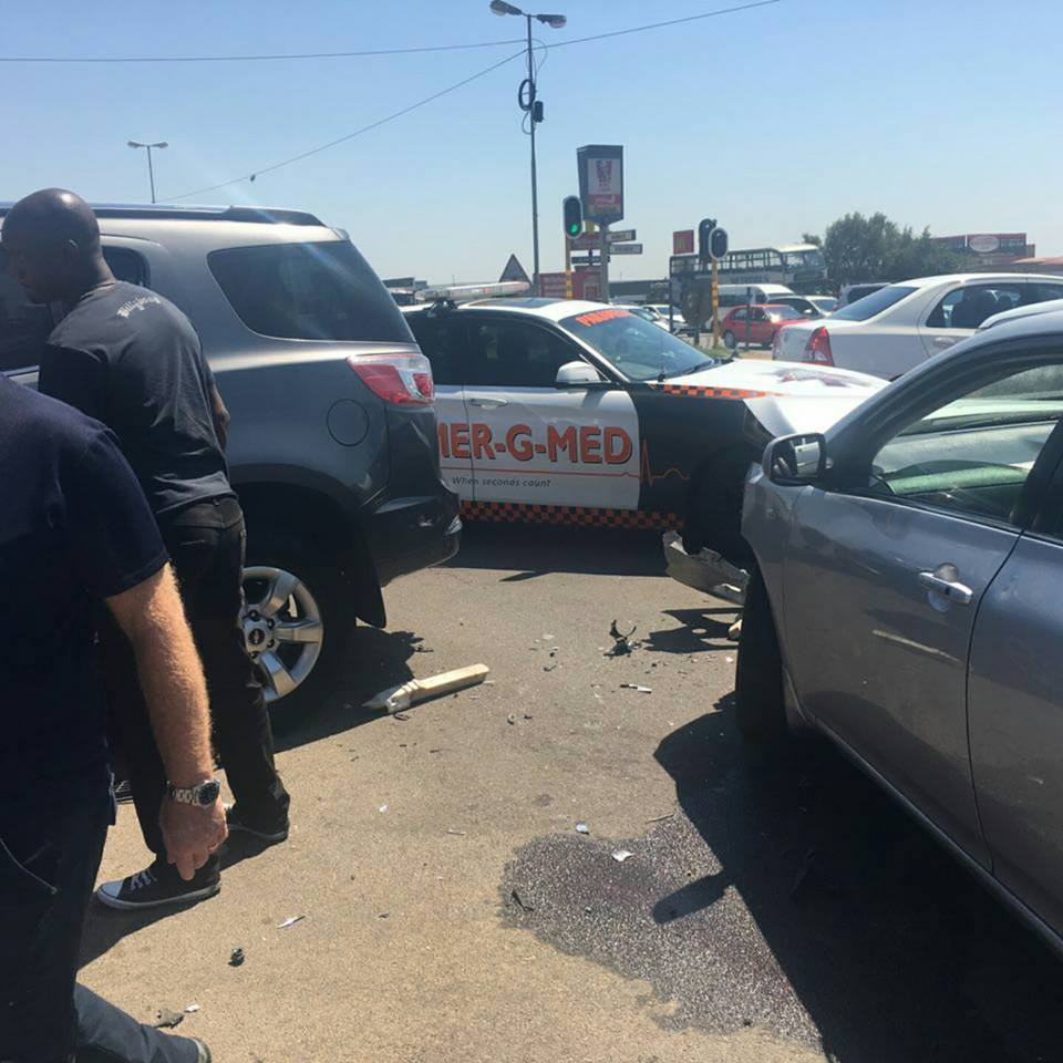 One seriously injured in collision on Woodmead and Woodlands in Woodmead.