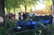Car collides with tree - Bedfordview, Johannesburg