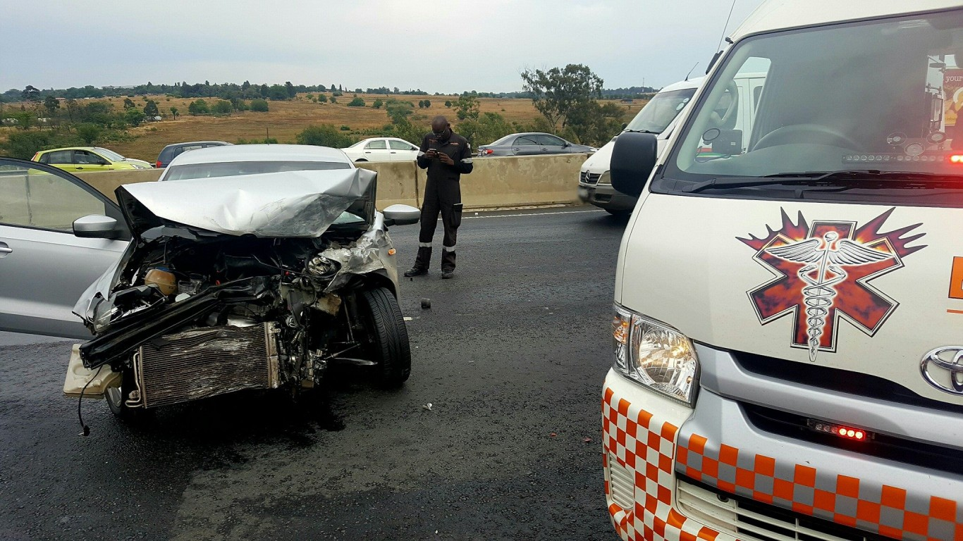 Four injured in collision on the N3 South after Marlboro, north of Johannesburg.