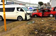 Three injured in collision on John and Warp Streets in Booysens