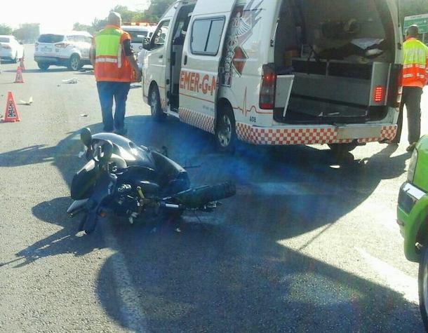 Biker seriously injured after crash with car, Centurion