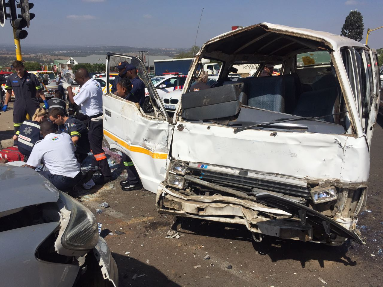 Approximately 16 injured in taxi collision on the R55 in Kyalami ...