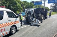 Two injured in truck crash on the M13 Durban Bound before Rockdale offramp