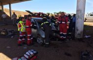 Potchefstroom woman seriously injured after car crashes into pillar