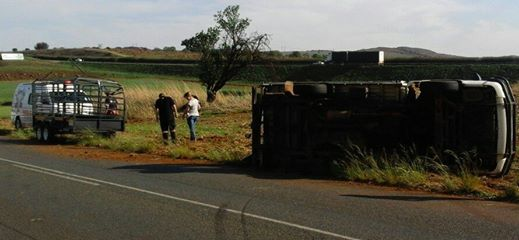 Two trucks collide on Heidelberg
