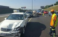 Collision on the N1 North before Malibongwe Drive, Randburg.