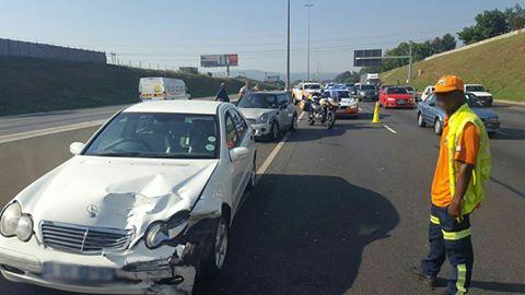 Collision on Hoofd Street in Braamfontein.