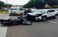 A biker injured after colliding with a vehicle in Waterkloof Ridge